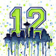 Seattle Seahawks 12th Man Art Poster