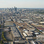 Seattle Skyline And South Industrial Area Poster