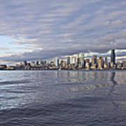 Seattle Skyline Cityscape Poster