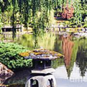 Seattle Tea Garden Reflections Poster