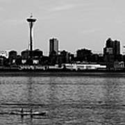 Seattle Waterfront Bw Poster