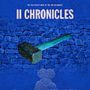 Second Chronicles Books Of The Bible Series Old Testament Minimal Poster Art Number 14 Poster