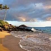 Secret Beach At Sunset Poster