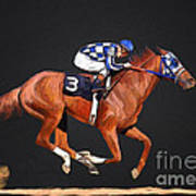 Secretariat And Turcotte Poster by GCannon