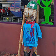 Sedona Arizona Grey Alien Poster