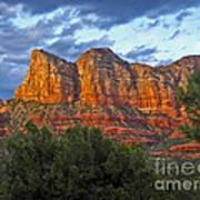 Sedona Arizona Sunset On Mountains Poster