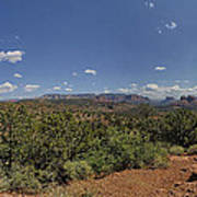 Sedona Panorama In 5 Pictures Poster