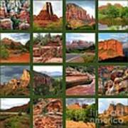 Sedona Spring Collage Poster by Carol Groenen