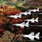 Sedona Thunderbirds Poster by Benjamin Yeager