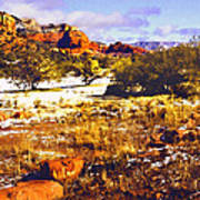 Sedona Winter Painting Poster