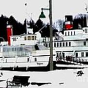 Segwun And Wenonah Steamships In Winter Poster