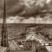 Seine From Notre Dame Poster