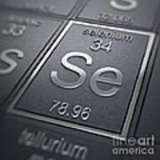 Selenium Chemical Element Poster