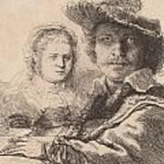 Self Portrait With Saskia Poster