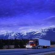 Semi-trailer Truck Poster
