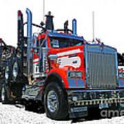 Semi Trucks Catr3120-13 Poster