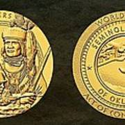 Seminole Nation Code Talkers Bronze Medal Art Poster