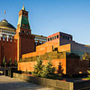 Senate Tower And Lenin's Mausoleum Poster