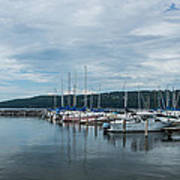 Seneca Lake Harbor - Watkins Glen - Wide Angle Poster