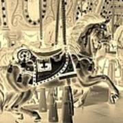 Sepia Horse Poster