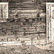 Sepia Rustic Old Colorado Barn Door And Window Poster by James BO  Insogna