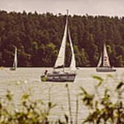 Sepia Sailing Poster