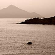 Sepia Seascape Poster