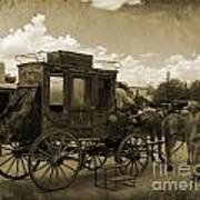 Sepia Stagecoach Poster