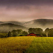 Sequatchie Vally Red Barn Poster by Paul Herrmann