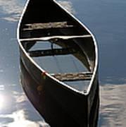 Serene Canoe With Sky Poster by Renee Forth-Fukumoto