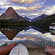 Serenity On Two Medicine Lake Poster