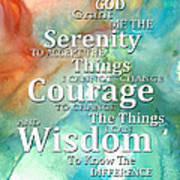 Serenity Prayer 1 - By Sharon Cummings Poster