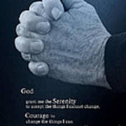 Serenity Prayer Finding Peace Poster