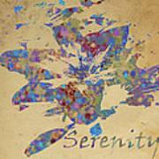 Serenity Poster by Soumya Bouchachi