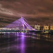 Seri Wawasan Bridge At Night Poster