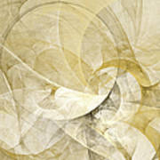 Series Abstract Art In Earth Tones 1 Poster