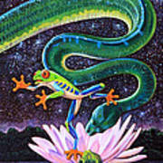 Serpent In The Garden Poster