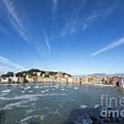 Sestri Levante With Clouds Poster