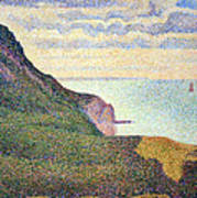 Seurat's Seascape At Port Bessin In Normandy Poster