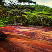 Seven Colored Earth In Chamarel 3. Mauritius Poster