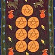 Seven Of Pentacles Poster
