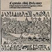 Sevilla In 1548. Xylography. Spain Poster