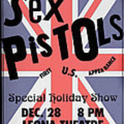 Sex Pistols First Us Appearance Poster