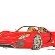 Sexy Spyder Porsche 918 Poster