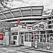 Shadow Of The Stadium Poster by Scott Pellegrin