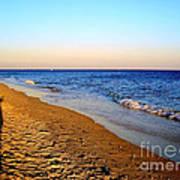 Shadows On Sand Beach Poster