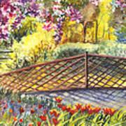 Shakespeare Garden Central Park New York City Poster by Carol Wisniewski