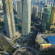 Shanghai From Above Poster