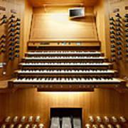 Shanghai Organ Console Poster