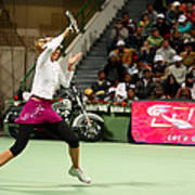 Sharapova At Qatar Open Poster by Paul Cowan